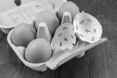 Cáscaras de huevo Imagenes de archivo
