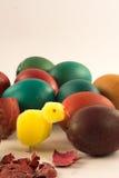 Cáscaras de huevo de Brown Pascua Fotos de archivo