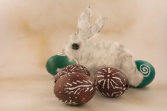 Cáscaras de huevo de Pascua Imagen de archivo