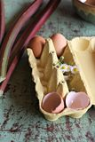 Cáscaras de huevo empiladas Imagen de archivo libre de regalías