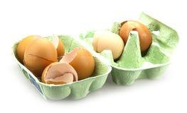 Cáscaras de huevo quebradas Foto de archivo libre de regalías