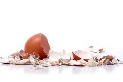 Cáscaras de huevo quebradas Imagen de archivo libre de regalías