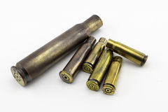 Cáscaras de las balas Imagen de archivo