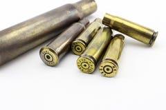 Cáscaras de las balas Fotos de archivo libres de regalías