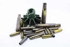 Cáscaras de las balas Fotografía de archivo