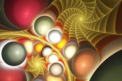 Cáscaras, espirales y gemas Foto de archivo libre de regalías