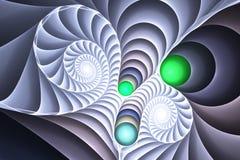 Cáscaras y espirales Foto de archivo libre de regalías