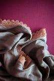 Cáscaras y papel con el draperie Foto de archivo libre de regalías