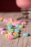 Cáseme los dulces del día de tarjetas del día de San Valentín del corazón de la conversación Fotos de archivo libres de regalías