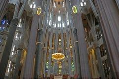 Cátedra de Sagrada Familia, Barcelona, Cataluña, España fotografía de archivo libre de regalías