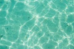 Cáustico da água do assoalho de mar foto de stock royalty free
