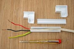 Câblage électrique. Photographie stock libre de droits
