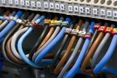 Câblage électrique photo stock