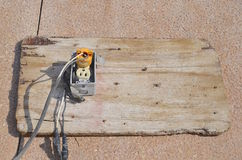 Câblage électrique dangereux Images stock