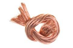 Câblage cuivre de chute Photos stock