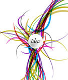Câblage d'illustration de vecteur se reliant à l'icône d'idée Image libre de droits