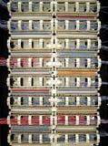 Câblage de téléphone Photo libre de droits