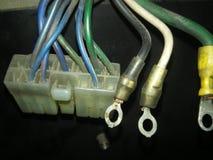 Câblage et connecteurs de voiture Image libre de droits