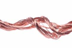 Câblages cuivre Images libres de droits