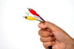 Câble à disposition Photographie stock libre de droits