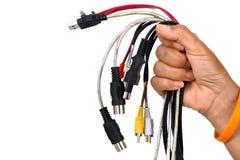 Câble à disposition Images libres de droits
