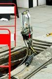 Câble à fibres optiques Photos libres de droits