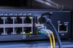 Câble à fibres optiques dans le coffret de support photo libre de droits