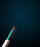 Câble électrique avec l'espace de copie Image libre de droits