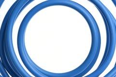 Câble électrique bleu Photographie stock