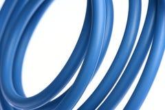 Câble électrique bleu Photographie stock libre de droits