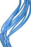 Câble électrique bleu utilisé dans l'instalation électrique Photographie stock libre de droits