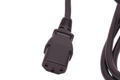 Câble électrique noir Photographie stock libre de droits