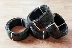Câble électrique noir Image stock