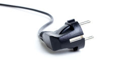 Câble électrique noir Photo libre de droits