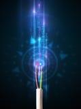 Câble électrique rougeoyant Image stock