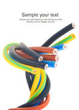 Câble électrique triphasé Photos stock