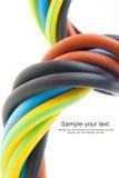 Câble électrique triphasé Images libres de droits