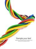 Câble électrique triphasé Photo libre de droits