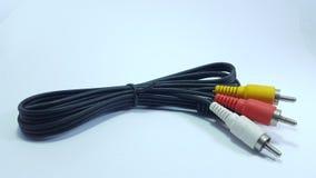 Câble audio, visuel à la télévision analogue photographie stock