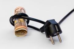 Câble avec l'argent Image stock