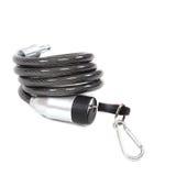 Câble avec une serrure et une clé photo libre de droits