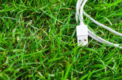 Câble blanc d'usb Images stock