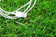 Câble blanc d'usb Photographie stock
