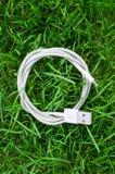 Câble blanc d'usb Images libres de droits