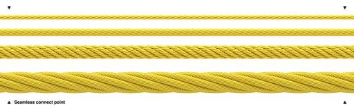 Câble brillant d'or de corde d'or sans couture illustration stock