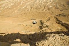 Câble-chemin de fer dans Mezadah Photos libres de droits