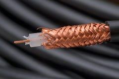 câble coaxial de liaison de 75 ohms Photo libre de droits