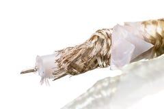 Câble coaxial de liaison de PTFE Photos stock