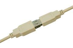 Câble connecté d'usb photos libres de droits