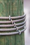 Câble d'acier de pilier Images stock